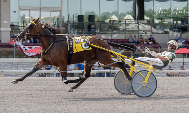 BLUE DIAMOND EYES EQUALS FASTEST DISTAFF MILE EVER AT THE MEADOWS