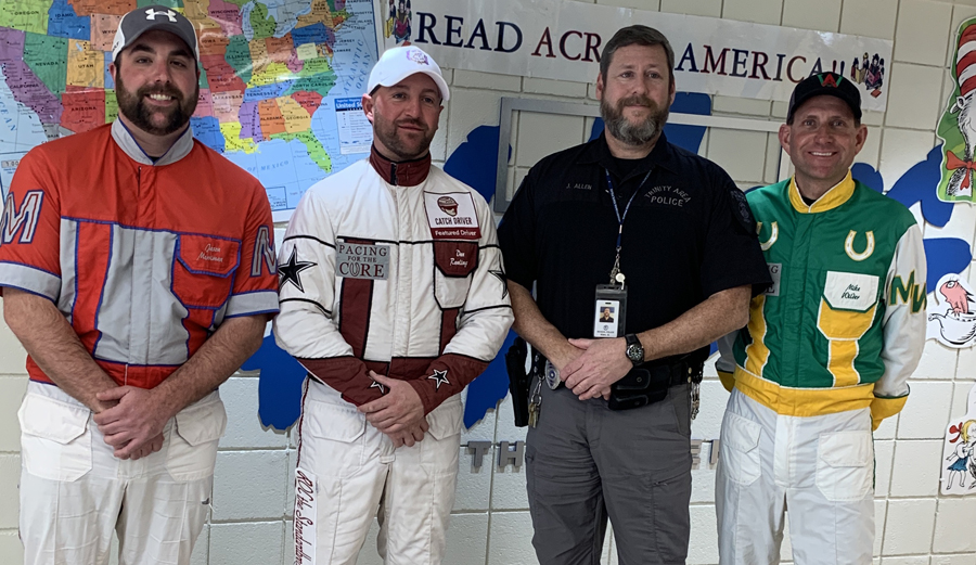 Meadows drivers participate in Read Across America Week